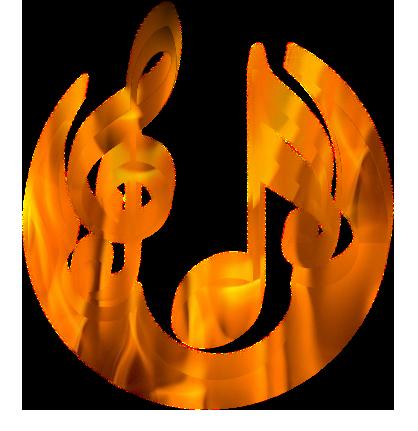 un logo en flamme