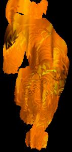 logo tigre flamme